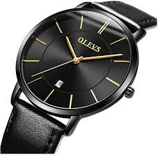 OLEVS Mens Wrist <b>Watches</b> Ultra Thin 6.5mm Minimalist <b>Business</b> ...