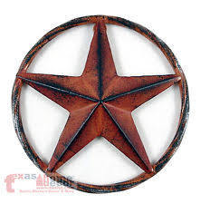metal star wall decor: barn star rust red rustic metal aluminum rope like ring texas wall decor d