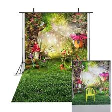 <b>Spring Scenery Backdrop</b> Easter Egg Grassland Fairy Tale Forest ...