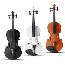 <b>4/4 Full Size</b> Basswood <b>Natural</b> Acoustic Violin Fiddle with Case ...