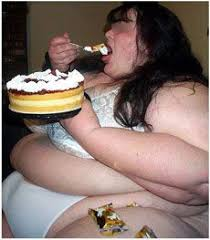 Image result for fat slob eating cupcakes