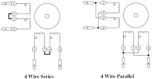 4 wire series parallel stepper motor wiring configuration