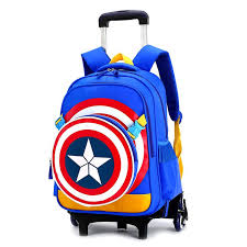 Kids Trolley Schoolbags for Teenager Removable Backpack ...