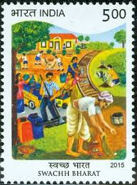 Image result for swachh bharat post stamp