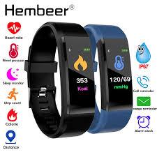 SNA Color Screen <b>Fitness Bracelet</b> Blood Pressure/Heart Rate ...