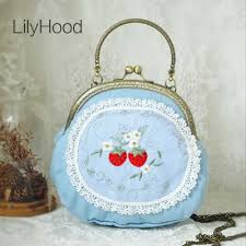 LilyHood <b>2018</b> Handmade Girly Cute Blue Lolita Small Shoulder ...