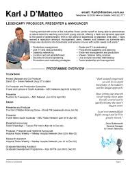 presenter resume examples resume templates presenter resume examples