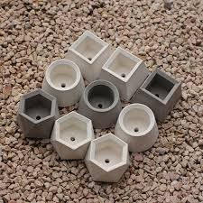 <b>Geometric</b> shape round square hexagonal <b>concrete flowerpot</b> ...