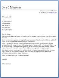restaurant server cover letter samples restaurant server sample resume