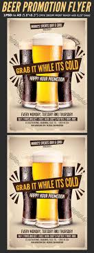 beer promotion happy hour flyer template on behance