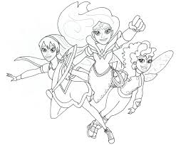 Small Picture Free Printable Super Hero High Coloring Pages DC Super Hero Girls