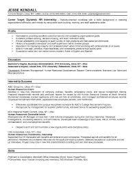 internship resume tips sample resume for an internship