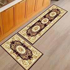 Kitchen Rugs & Mats Home AiseBeau Set of 2 Comfort Flannel ...