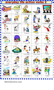 everyday life action verbs 2 verbs vocabulary everyday life action verbs 2