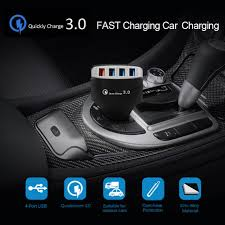 <b>QC3</b>.<b>0</b> Quick <b>Charger</b> USB 4 Port <b>Fast Car Charger</b> Adaptive For ...