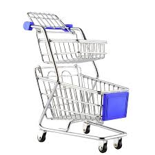 <b>Mini Supermarket</b> Handcart Wheel Shopping Carts <b>Creative</b> Double ...