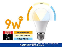 9W SAMSUNG LED <b>E27</b> Bulbs; <b>3 in 1</b> dimmable - Troostwijk