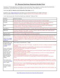 example of a resume summary statement template example of a resume summary statement