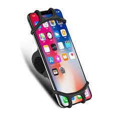 Udyr Bike Phone Holder Soft Silicone Adjustable Pull Button Anti ...
