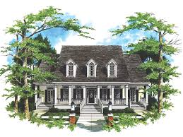 Coxburg Plantation Home Plan D    House Plans and MoreSouthern Plantation Home With Grand Front Porch
