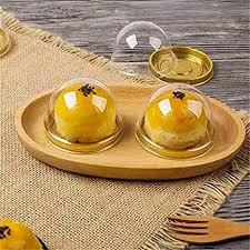 Katoot@ Gold Black <b>Clear Plastic</b> Mini Cupcake Boxes <b>50Pcs</b>/<b>Set</b> ...