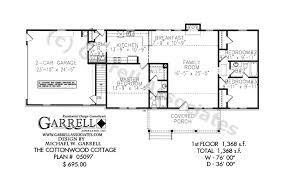 Cottonwood Cottage House Plan   Active Adult House Planscottonwood cottage house plan   st floor plan