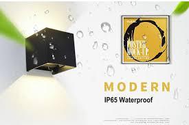 <b>LED 12w</b> Outdoor Wall Light Up Down IP65 Waterproof White <b>Black</b> ...
