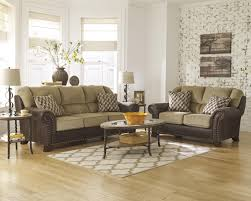 Two Loveseat Living Room Two Tone Sofa With Chenille Fabric Faux Leather Upholstery By