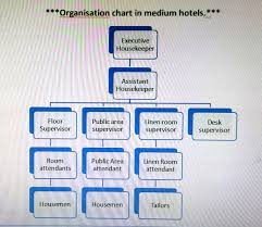hkfirstsem organization chart of housekeeping department b identifying housekeeping responsibilities