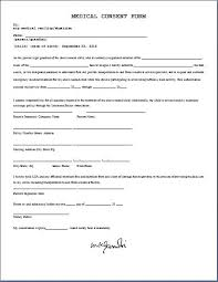 medical consent form permission letter for medical treatment