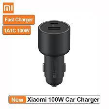 <b>Xiaomi Mi Car</b> Charger <b>100W</b> Fast <b>Car</b> Charging Dual-port USB-A ...
