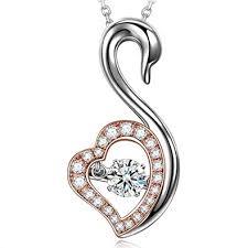 DANCING HEART Christmas Necklace Gifts Animal ... - Amazon.com