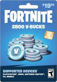 Fortnite V-Bucks 19.99 Card