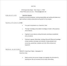 data entry resume template –   free word  excel  pdf format    you are getting a simple and mini st data entry operator resume   concentrated focus on the main points like  objective  qualification and short work