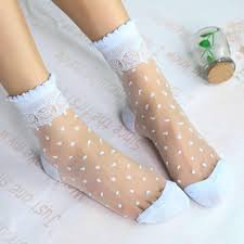 <b>2 Pairs</b>/<b>Lot</b> Ladies Japan Restoring Style Dots Lace Blink <b>Socks</b> ...