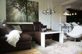 Living Room Brown Sofa Apartment Design Brown Sofa In Single White Chair On White Fur