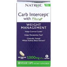 Natrol, <b>Carb Intercept с</b> Phase 2 Carb Controller, 1000 мг, 60 ...