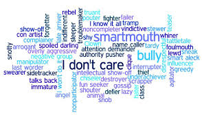 Words used to describe children with problem behaviors.