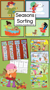 best ideas about seasons kindergarten preschool seasons sorting is a hands on science center just right for kindergarten or first grade