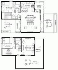Small house plan   four bedrooms  Simple lines and shapes    Small House Plan Small Contemporary House Plan Modern Cabin Plan