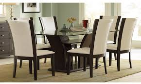 Glass Top Pedestal Dining Room Tables Hit Furniture Glass Top Dining Table Pedestal Base And Glass Top