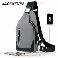<b>Men</b> 's <b>chest bag leisure</b> Messenger <b>bag</b> multi functional <b>shoulder</b> ...