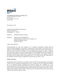 cover letter pf spectrabusters project overview in request for pre filing review by transcontinental gas pipe line