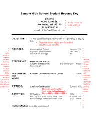 resume sample student resume  seangarrette cohigh school student resume objective examples i