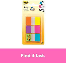 "Post-it <b>Flags</b>, <b>1</b>"" <b>x</b> 1.7"", 60 <b>Flags</b> with Dispenser, Assorted Electric ..."