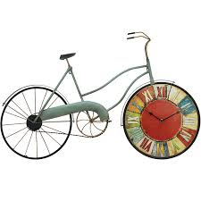 American Vintage <b>Large</b> Wall Clock 3d <b>Metal Creative</b> Wheel ...
