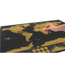 <b>Deluxe Black Decoration</b> World Map Scratch off World Map ...