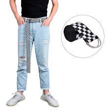 <b>Canvas Checkerboard Plaid Belt</b> Ladies Casual Checkerboard ...