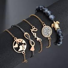 <b>5 Pieces</b> / Set Of Ladies Alloy Bracelet Five-Piece <b>Fashion Jewelry</b> ...