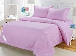 <b>КПБ С одеялом</b>-покрывалом «Камелия» с вышивкой (розовый)